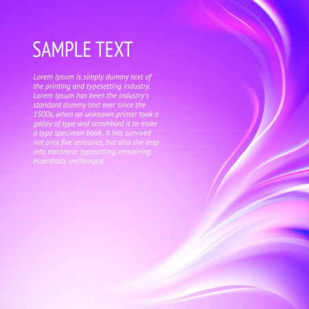Abstract smooth violet lines   background, contains transparencies  Stock Vector - 17479776