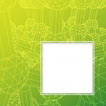 Atom background with frame for your text   Illustration, contains transparencies Vector