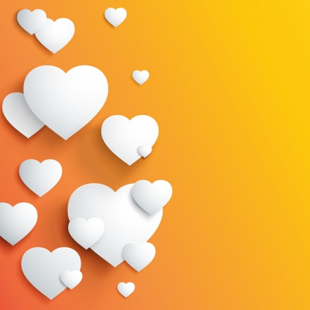 transparencies: Stylish white valentine day heart background   illustration, contains transparencies  Illustration