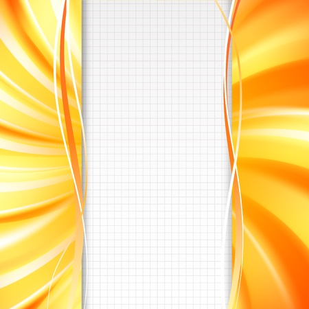 Abstract orange cover with smooth lines  Vector illustration, eps 10, contains transparencies Stock Vector - 17605941