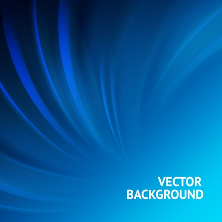 contains: Smooth wave blue design  Vector illustration, eps 10, contains transparencies