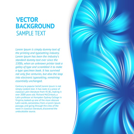 Abstract blue text page with smooth lines  Vector illustration, eps 10, contains transparencies  Stock Vector - 17605956