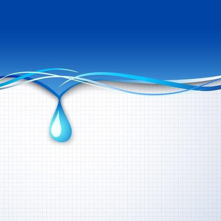 vector water wave  Vector illustration, eps 10, contains transparencies  Vector