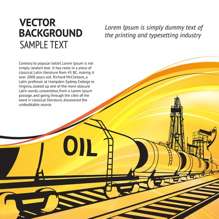 Oil transportation text banner  Vector illustration, eps 10, contains transparencies  Vector