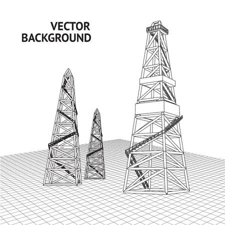 drilling platform: Oil derrick background for your text  Vector illustration Illustration