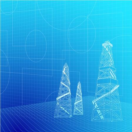 taladro: Bandera Industrial para su ilustración vectorial de texto