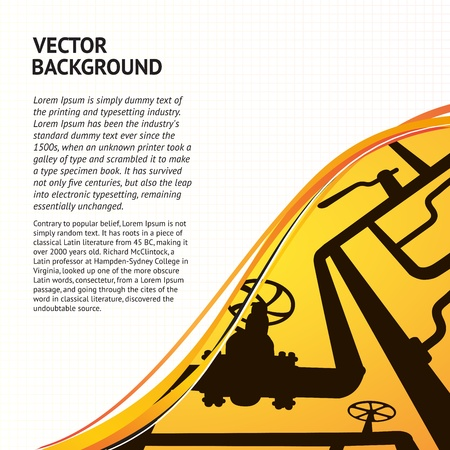 Oil Pipelines banner for your text  Vector illustration Vector