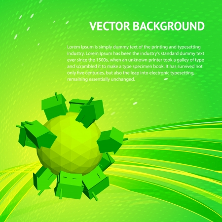 Friendly small Planet  Vector illustration Vector