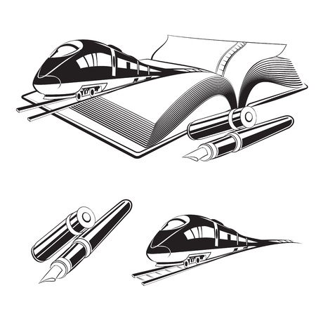 High speed train  Vector illustration Vector