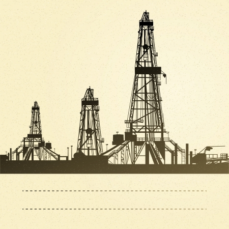 Drilling machine over sepia backdrop  Vector illustration Vector