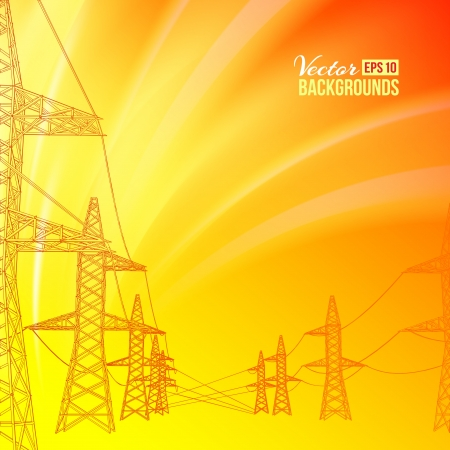 Electric power transmission  Vector illustration Stock Vector - 17773430