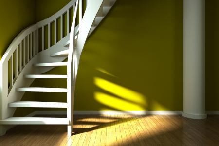 vestibule: Interior design of yellow hall  Illustration