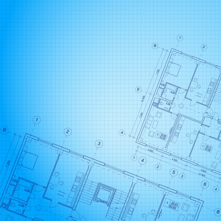 blueprint: Architectural blue background  Vector illustration, eps10, contains transparencies, gradients and effects  Illustration