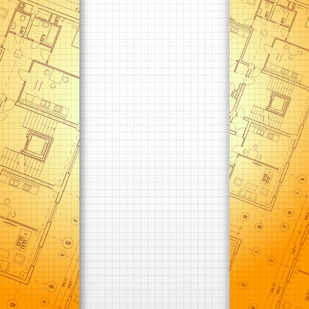 Architectural orange background, ready for your text  Vector illustration, eps10, contains transparencies, gradients and effects  Vector
