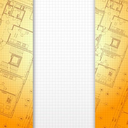 Fondo arquitect�nico naranja, listo para su ilustraci�n vectorial de texto, eps10, contiene transparencias, gradientes y efectos