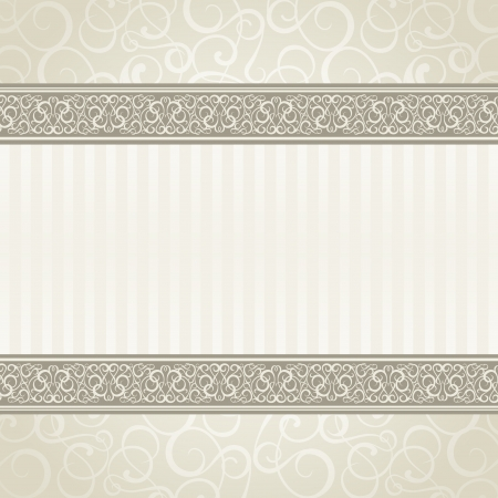 is elegant: Vintage styled card  Vector illustration, eps10, contains transparencies, gradients and effects