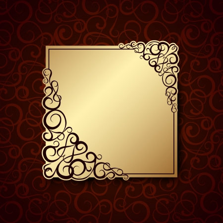 Stylish vintage background with golden ornament and pattern  Vector illustration, eps10, contains transparencies, gradients and effects Stock Vector - 18095911