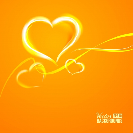 Burning heart  Vector illustration, contains transparencies, gradients and effects  Vector