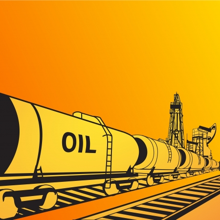Oil transportation banner  Vector illustration, eps 10, contains transparencies  illustration