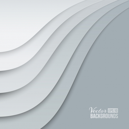 office background: White papers with corner curl, layer by layer illustration, contains transparencies, gradients and effects