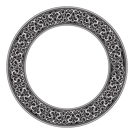 transparencies: Circle ornamental decorative frame. Vector illustration, eps10, contains transparencies.