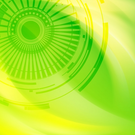 Green abstract background. Vector illustration, eps10. Stock Illustration - 18146095