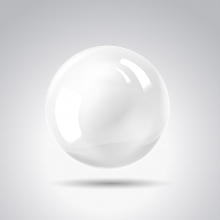 White pearl illustration, contains transparencies, gradients and effects  Vector