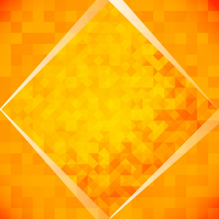 transparencies: Orange mosaic tiles  Vector illustration, contains transparencies, gradients and effects