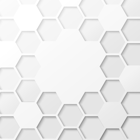 Abstract hexagon background illustration, contains transparencies, gradients and effects