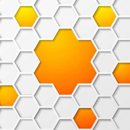 Abstract hexagon background Vector illustration, contains transparencies, gradients and effects