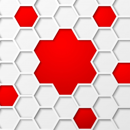 hexahedral: Abstract hexagon background  Vector illustration, contains transparencies, gradients and effects