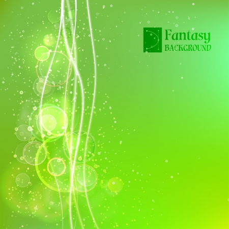 transparencies: Green abstract background  Vector illustration, contains transparencies, gradients and effects  Illustration