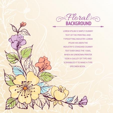 romantically: Abstract flower background  illustration, contains transparencies, gradients and effects