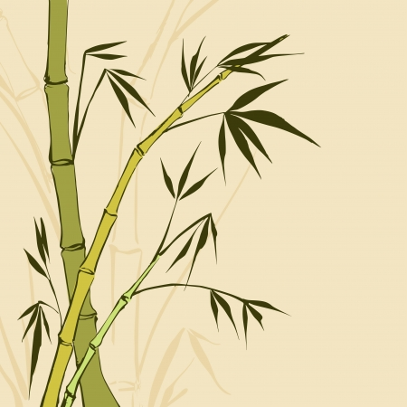 chinese script: Bamboo Painting  illustration, contains transparencies, gradients and effects  Illustration
