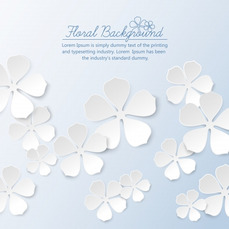 Paper floral background with place for text  Vector illustration, contains transparencies, gradients and effects  Vector