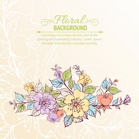 Abstract flower background  illustration, contains transparencies, gradients and effects  Vector