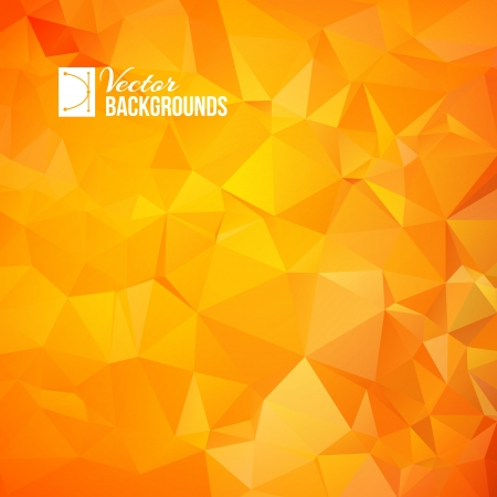 Orange triangle  geometric pattern   Vector