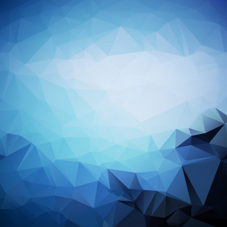 Abstract blue background of geometric triangle shapes in random pattern