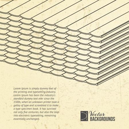 roofing: Pile of roofing tiles packaged  Presentation background  Illustration