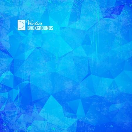 Blue triangle  geometric pattern   Vector