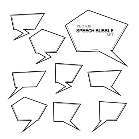 White series  Speech And Thought Bubbles  Vector illustration  Stock Vector - 18523723