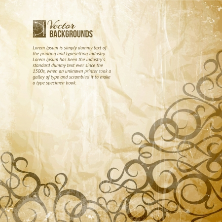 transparencies: Curves Vintage Background  Vector illustration, contains transparencies