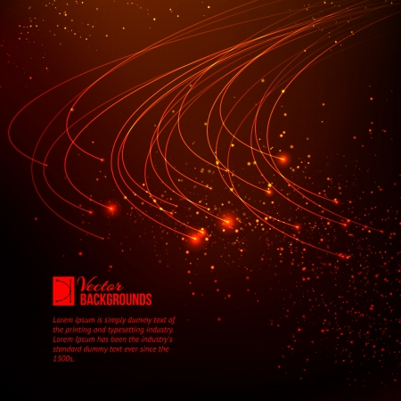 Abstract red lights background  Vector illustration, contains transparencies, gradients and effects  Vector