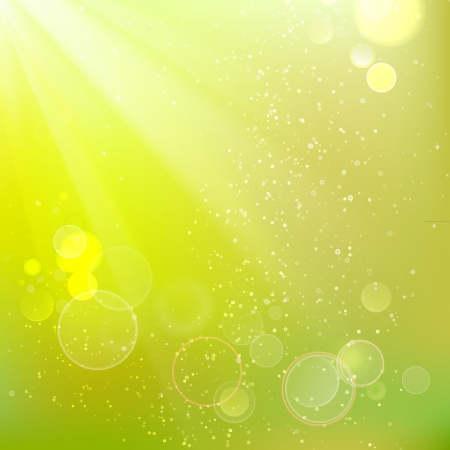 sunbeams background: Beautiful summer background  Vector illustration, contains transparencies, gradients and effects