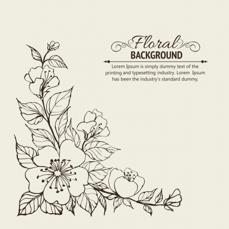 flor de sakura: Fondo abstracto flor ilustraci�n vectorial, contiene transparencias, gradientes y efectos