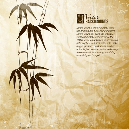 transparencies: Bamboo banner set  Vector illustration, contains transparencies, gradients and effects