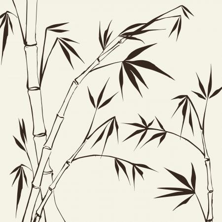 Bamboo Vector illustration peinture, contient des transparents, des dégradés et des effets