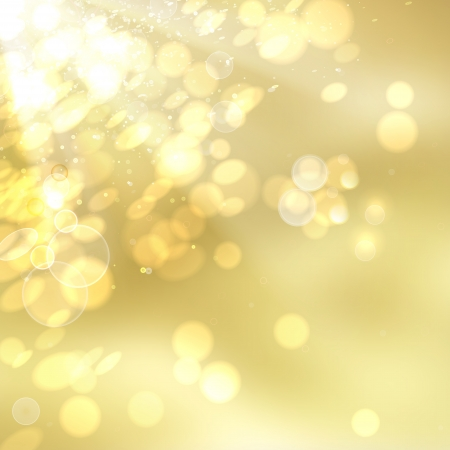 transparencies: Golden Bokeh  Vector illustration, contains transparencies, gradients and effects