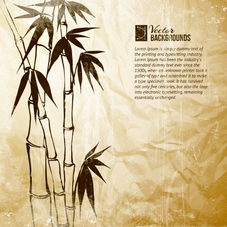 ripped: Bamboo banner set  Illustration
