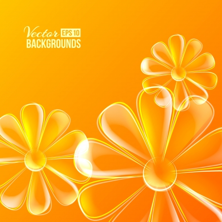 flower power: Abstract colorful glass flower  Vector illustration, contains transparencies, gradients and effects
